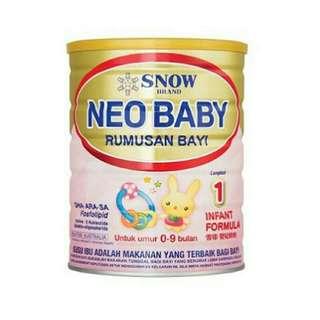 Snow neo baby 0-12months 900g