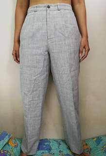 High Waist Checkered Pants