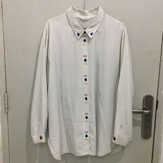 Terpiel Striped Shirt Size L
