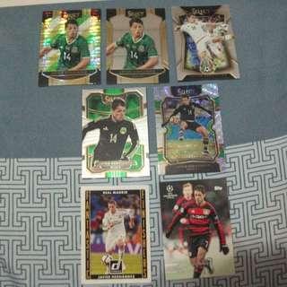 Javier 'Chicharito' Hernandez Topps/Panini trading cards for sale/trade (Lot of 7 cards)