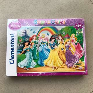 Puzzle clementoni supercolor disney princess 104
