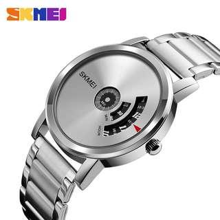 Jam tangan skmei 1260 silver original + box