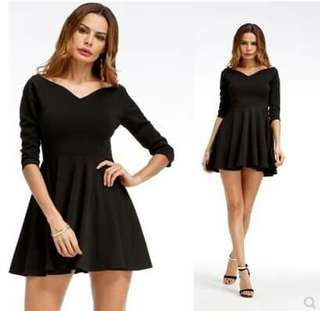 Ladies longsleve dress s-xl