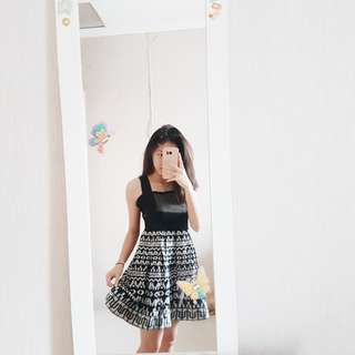 REPRICE 130k! Simple Black Party Dress