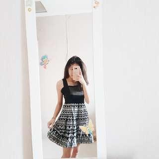 REPRICE 130k! Simple Black Party Dress