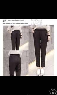 Black Harem Style Pants, size XL