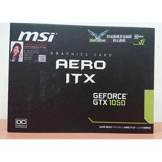 限時下殺!!【全新未拆封】微星 MSI Geforce GTX 1050 AERO 2G OCV1 ITX 顯示卡
