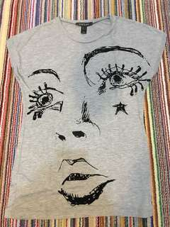 Preloved Mango grey tshirt