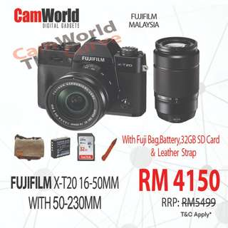 FUJIFILM X-T20 16-50MM & 50-230MM TWIN LENS