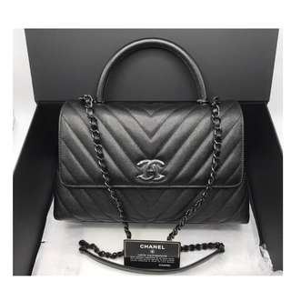 Authentic Chanel Coco Medium SO BLACK