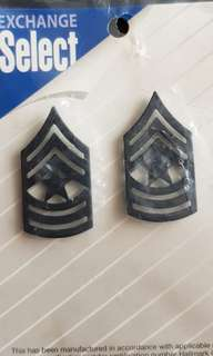 US Sergeant Major Rank Pin