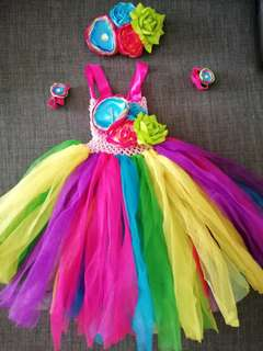 Hand madeTutudress (candyland/unicorn/rainbow)