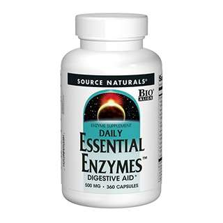 [IN-STOCK] Source Naturals Essential Enzymes 500mg Bio-Aligned Multiple Enzyme Supplement - 360 Capsules