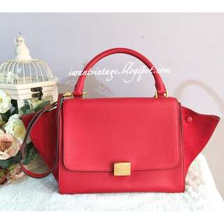 Celine Small Trapeze Bag-Red