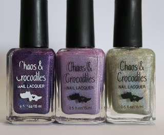 BN. Chaos & Crocodiles Holo Polish Trio $30