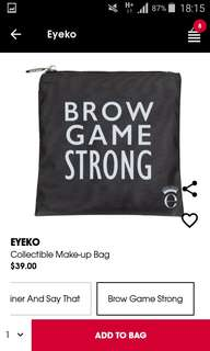 🚚 BNIB EYEKO Brow Game Strong Pouch