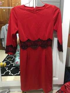 Dress Merah Rumah Mode
