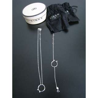 全新Links London 女裝純銀頸鍊手鍊套裝