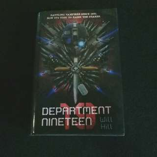 Department Nineteen (hard cover) by Will Hill