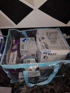 Avent sterilizer,bottle warmer,brand new thermal bag,unused bottles
