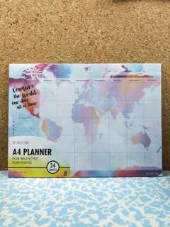 The Paper Stone - A4 Monthly Planner - Conquer The World