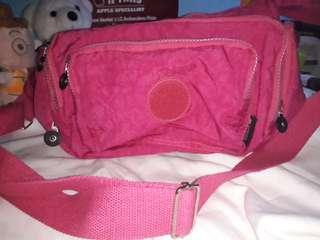 tas kipling slempang dan shoulder pink KW