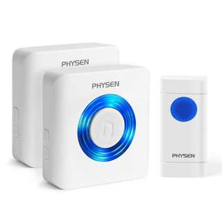 (BNIB) PHYSEN Twin Wireless Waterproof Digital Doorbell with 52 Ringtones (Brand New Boxed)