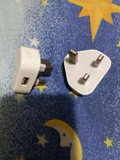 手機充電插頭兩個