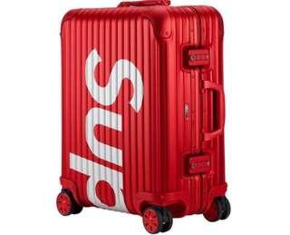 Supreme rimowa topas 45L red