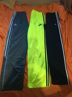 Adidas track pants with ankle zipper