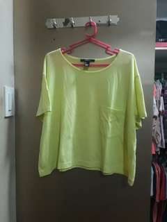 Neon Green Cropped Top