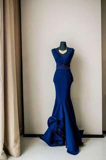 Navy blue long gown