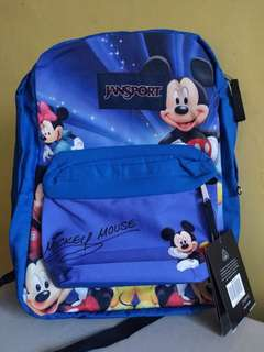 Mickey mouse large authentic jansport backpack large with free inner laptop sleeve