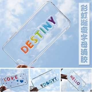 個性訂製字母滴膠手機殼可做情侶款iphone samsung sony