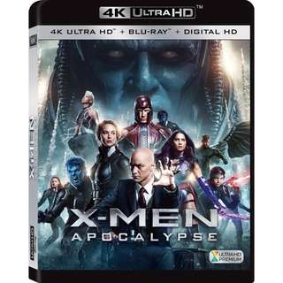 X-Men Apocalypse 4K Ultra HD UHD Blu Ray + DVD + Digital