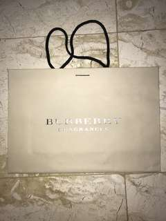 Burberry fragrances paperbag