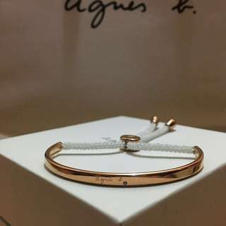 Agnes b Bijoux Gold Bangle/ Bracelet 手鈪/手繩手鐲