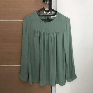 BYSI Green Blouse