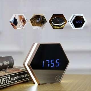 464 Night Light Rechargeable Digital Alarm Clock