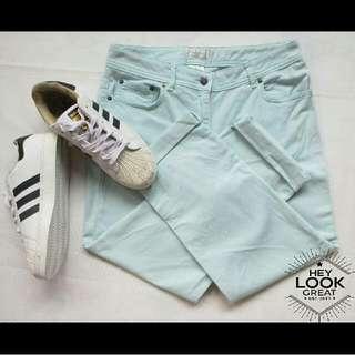 Pastel Green Jeans