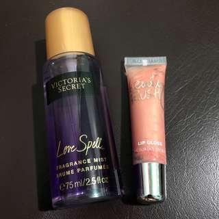 Victoria's Secret Mist and Lipgloss