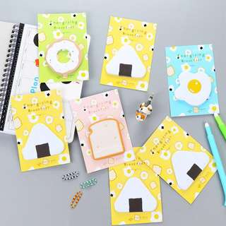 🌟BN INSTOCKS Cute Brunch Food Post-Its Sticky Memo Pad