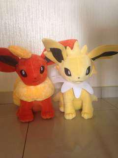 Pokemon Flareon & Jolteon Plush
