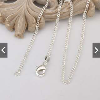Vogue Charming 925 Sterling Silver Fashion Chain Necklace 16-24 Inch
