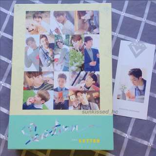 [WTS] SEVENTEEN 1st Album - Love & Letter (Unsealed w/ Hoshi bookmark)