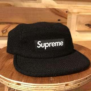 Supreme Wool Camp Cap Black