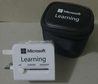 Microsoft Learning Logo Travel Adapter with USB Charger 帶USB充電器的旅行充電器