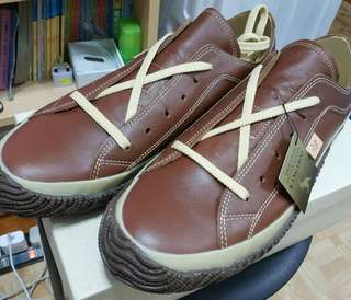 100%new Spingle move SPM-110 Kangaroo leather shoe 日本製袋鼠皮休閑鞋 size LL 42-43