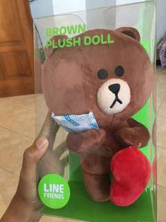 Brown Plush Doll - Line Merchandise
