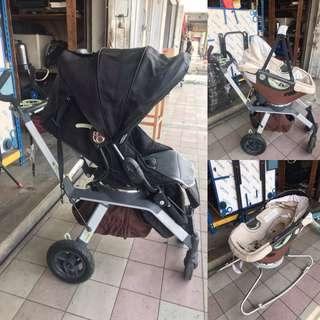 Orbit Baby Stroller Full Set with Carrier Carseat N Rocker